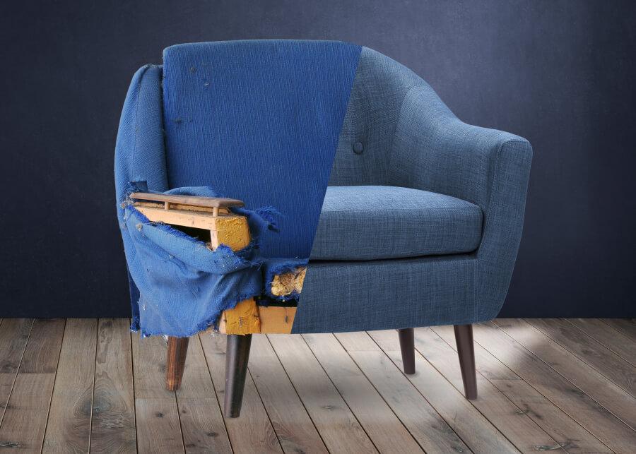 Как обновить старое кресло и сменить обивку своими руками? Пошаговая инструкция