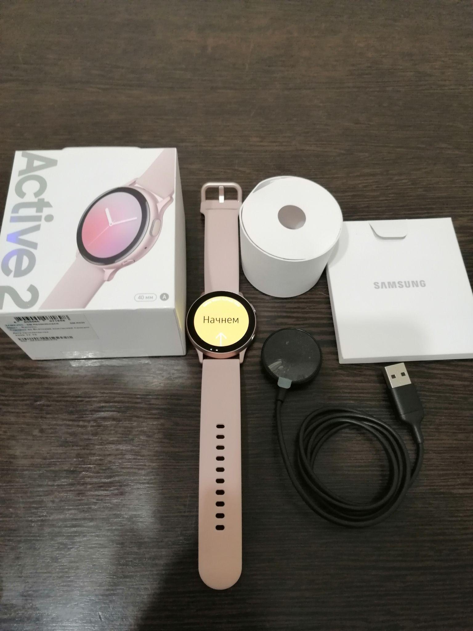 Обзор на смарт-часы Samsung Galaxy Watch Active 2 Ваниль