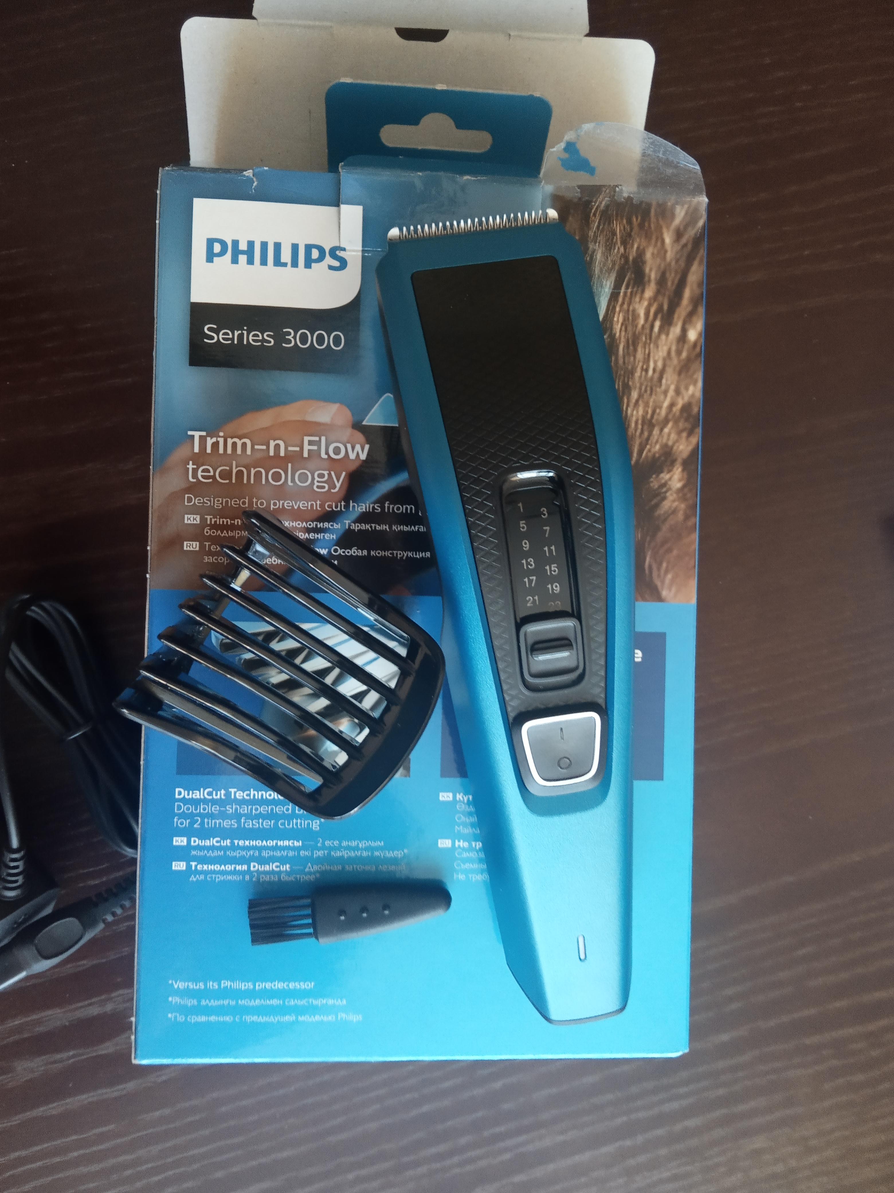 Видеообзор машинки для стрижки волос Philips HC3522/15 Hairclipper Series 3000