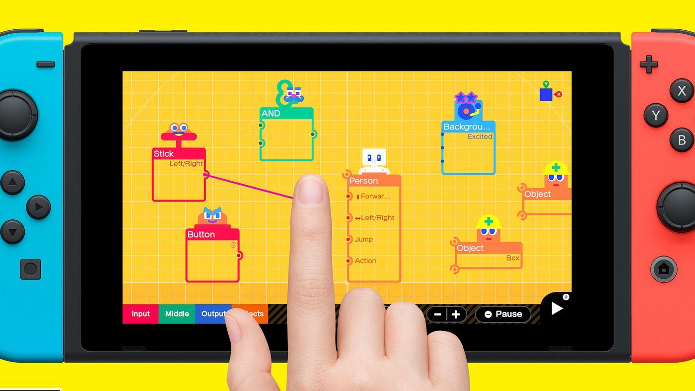 Nintendo показала конструктор Game Builder Garage, с помощью которого можно делать игры для Switch