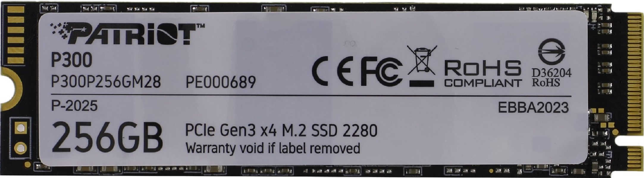 Обзор SSD накопителя Patriot P300 (NVMe)