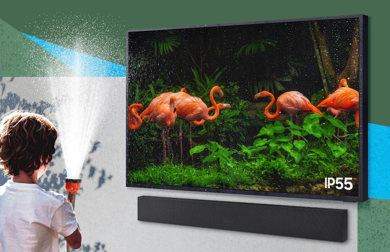 Samsung выпустила телевизор, который не боится дождя