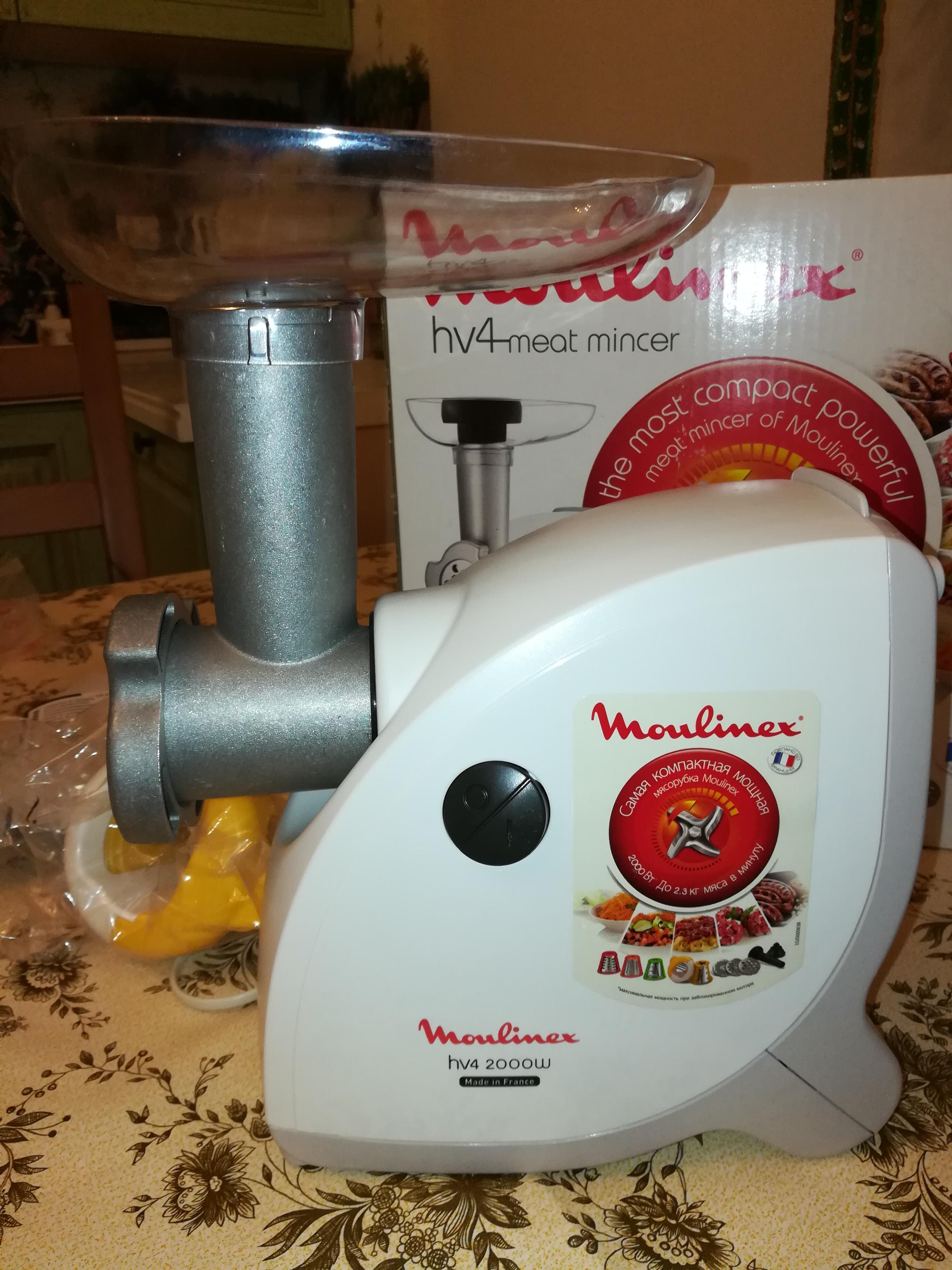 Обзор мясорубки Moulinex HV4 ME456139. Почему она займет почетное место на Вашей кухне (даже если вы вегетарианец).